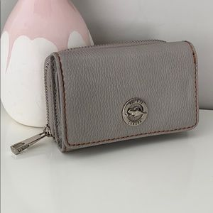 Roots Grey Trifold Wallet